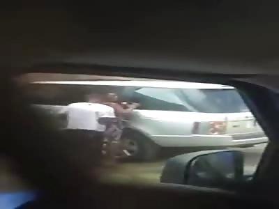 Black Man Fucks his Gf right Outside his Apartment Complex..Gives NO Fucks
