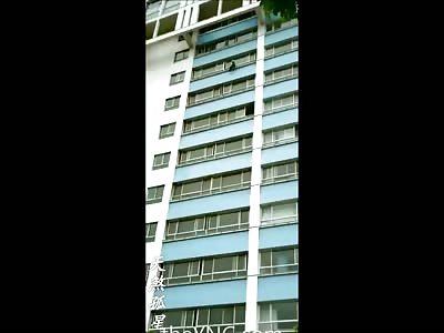Clean Video of Man's Hooray Suicide from his Top Floor Apartment