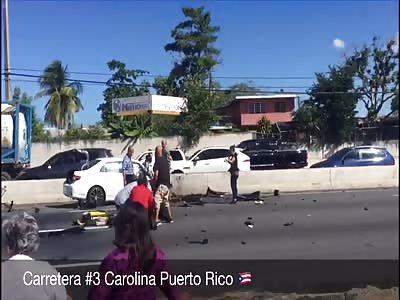1 dead 💀 Accident aftermath, Carolina Puerto Rico 🇵🇷