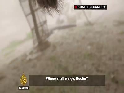 Palestinian cameraman films his own death