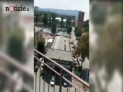 Bologna Italy 06/08/2018 explosion
