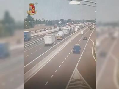 Bologna Italy vid 2 06/08/2018 explosion