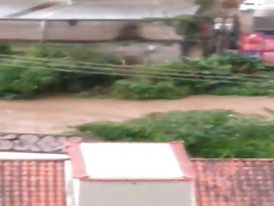Storm in Rio de Janeiro 2