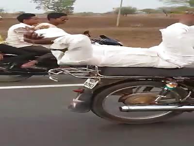 Old crazy biker