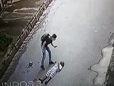 Hahahaha Fuck thief street cam
