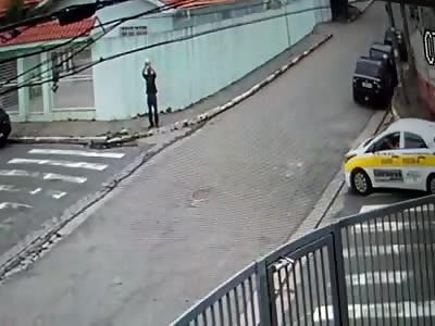 Man on Public Road Sets Himself on Fire