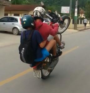 Idiots...Bike Wheelie Goes Explosively Wrong