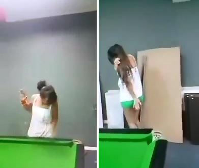 Tough Guy Boss Whips his Female Employee