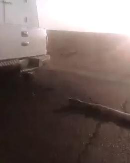 Bizarre Scene, Man Dragged by Speeding Ambulance in the Street