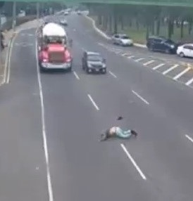 Man Run Over by a Car