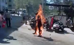 Walking through HELL..Man Set's Himself on Fire, Dies from his Burns (FULL Info Below in Description)