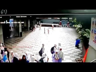 School Girl Suicide in Front of her Peers..Caught on Camera