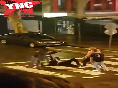2 Blacks vs 1 White Fight