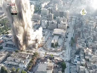 (Repost) Rebels' video shows devastating Aleppo bomb.