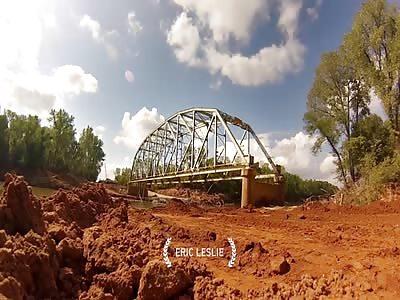 GoPro captures bridge demolition in Oklahoma.