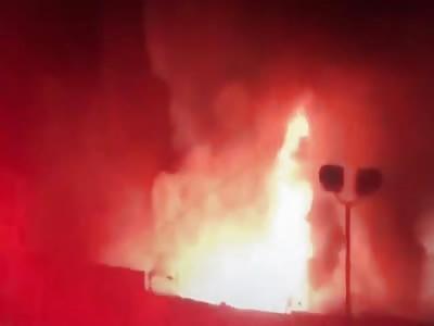Oakland nightclub fire, California.