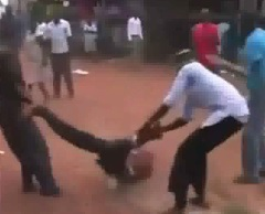 African Dude Beaten Like a Rag Doll