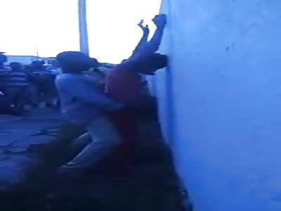 Haitian couple having a good time until police arrives