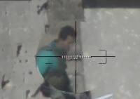 Perfect Sniper Shot Kills Syrian Solider