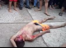 Rapist Necklaced Beaten and filmed by Kids