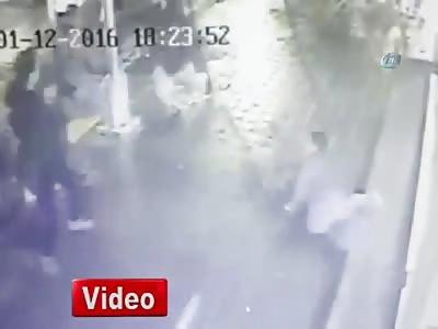 Dude Fucking Around Gets Shot in Legs