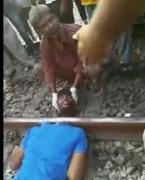 Train Perfectly Decapitates a Man