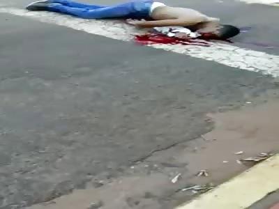 Man Agonizes With Gun Shot to the Face