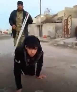 Teenage DAESH Member Treated Like a Dog on the Street