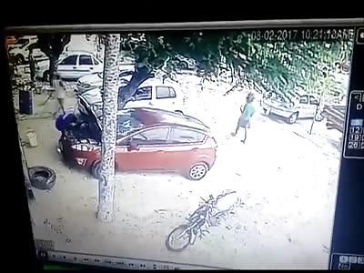 Thugs Execute a Man then Flee the Scene