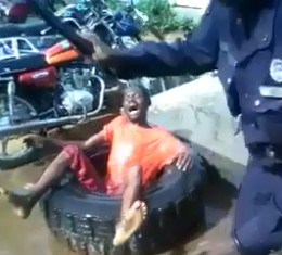 Scumbag Policemen in Africa Torturing Mentally Ill Man