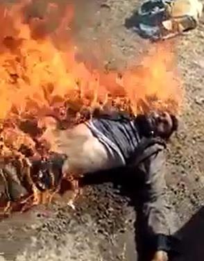 Dude set Ablaze ... Burns to Death