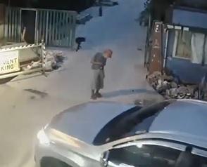 No Fuck Given.. Guy Runs Right Over Old Man Blocking his Way