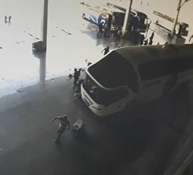 Bus Driver Mows Down Pedestrians