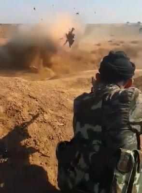 ISIS Suicide Bomber Detonates Himself Before Capture.