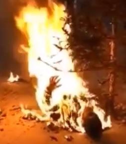BBQ Bon Fire... Dude Burned Alive