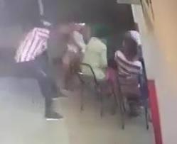 Guy Wearing Red and White Waldo Shirt .. Walks Up and Kills Rivals