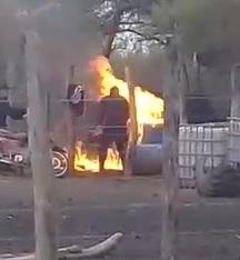 Dude Sets Himself on Fire