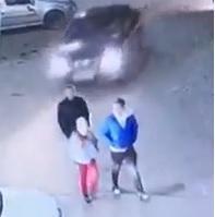 Three Pedestrians Mowed Down by Car