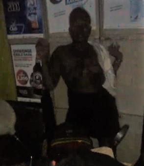 Very Dark Woman Stripped and Beaten