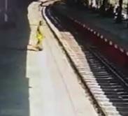 Girl Ends it All Via a Train (2 Angles)