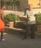 Punk Black Kid Beats Elderly Man