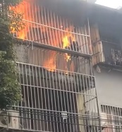 Man Casually Burns to Death on Balcony