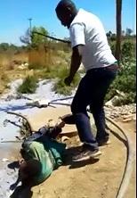 Thief Beaten with Iron Rod