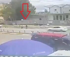 Exact Moment a Suicide Bomber Detonates