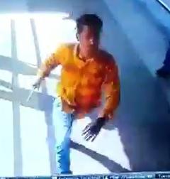 Orange Shirt Man Goes on Knife Attack