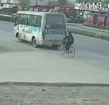 Bus Reverses Over Biker then Runsover Him Again