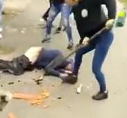 Rapist Dragged in Street, Beaten by Women, Fucked with Broom