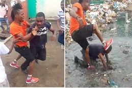 Liberian Policeman Beaten and Thrown in Trash