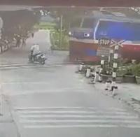 Scooter Girl vs. Train