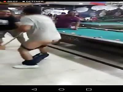 Billiard Player Bullied by Friends